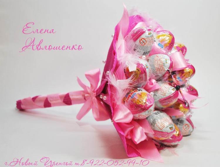 Букет из конфет как сделать для начинающих7