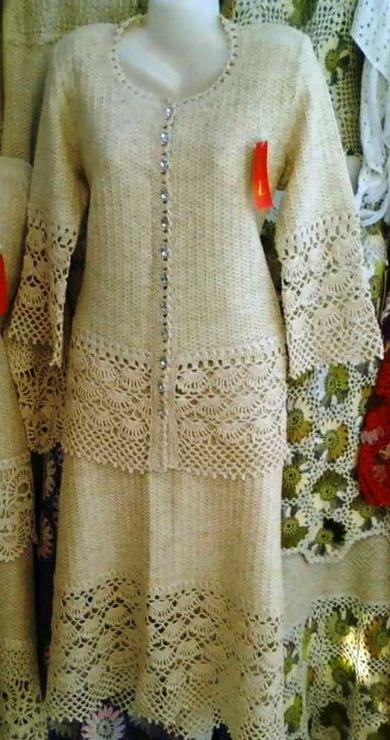 Вязание изо льна спицами