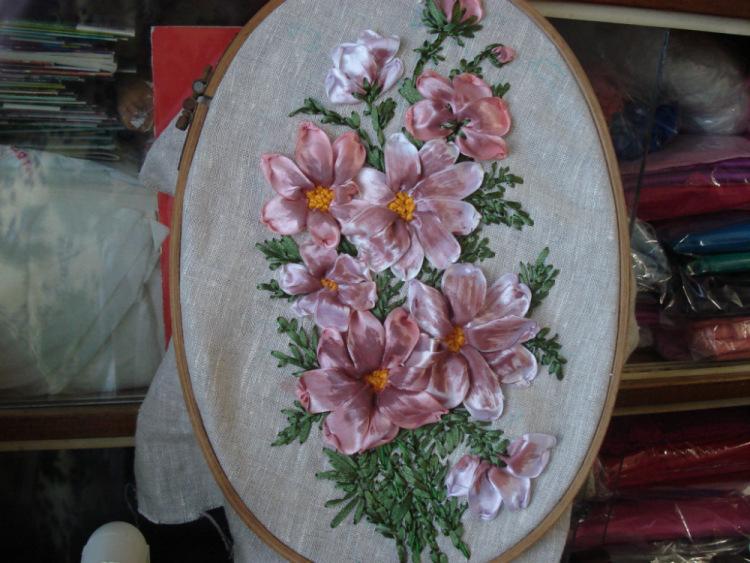 Тонировка ткани для вышивки