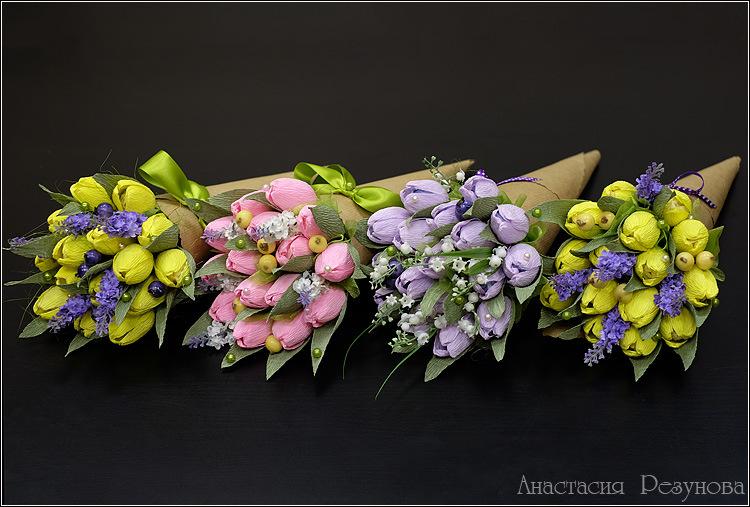 Букет из тюльпанов мастер класс