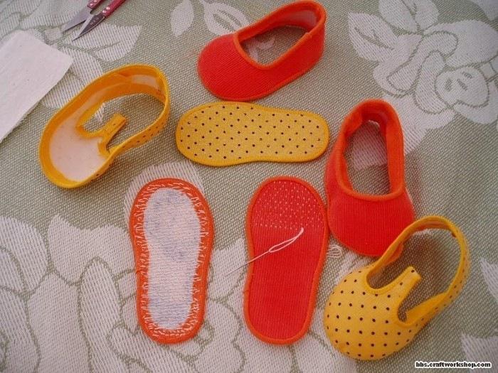 Детские тапочки своими руками