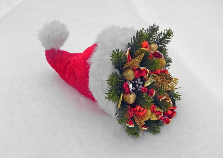 Вместо елки новогодний букет своими руками