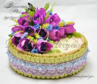 Торт из конфет для девушки своими руками