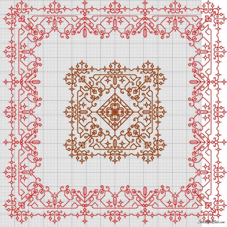 Восточными узорами для вышивки 142