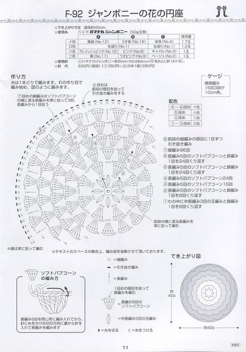 Вязание японских ковриков с схемами