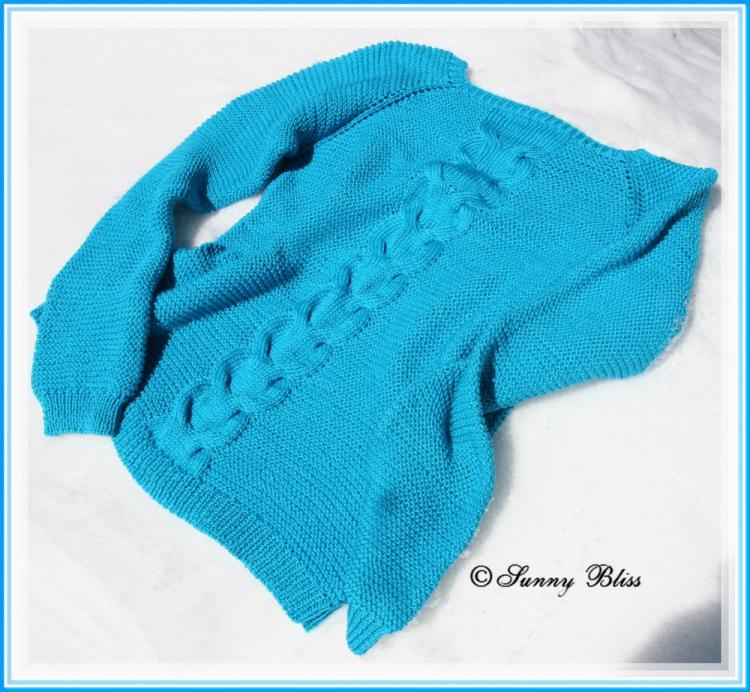Пуловер С Косой Посередине