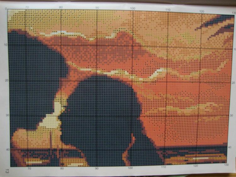 Схемы вышивки двое на закате