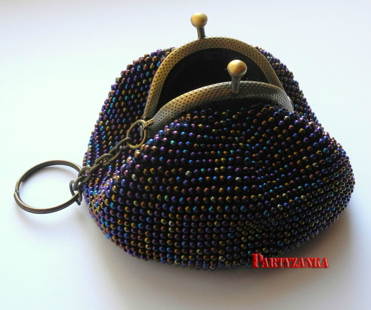 Вязание бисером кошелек с фермуаром 45