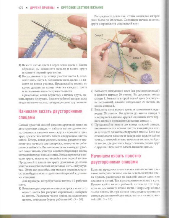 как вязать рисунки разными нитками