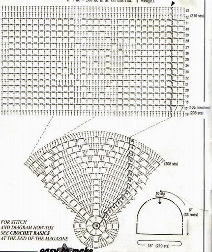 Схема вязания мужской тюбетейка
