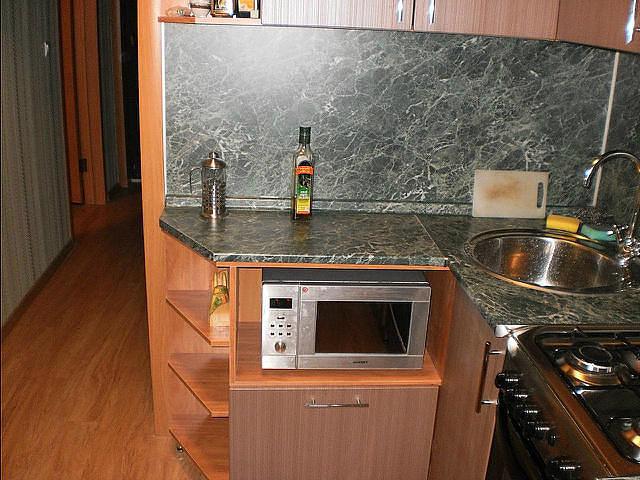 Кухня в четыре квадрата дизайн