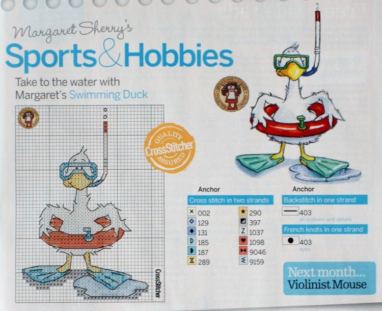 Схема вышивки плавание