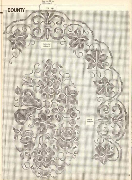 Филейное вязание скатертей 43