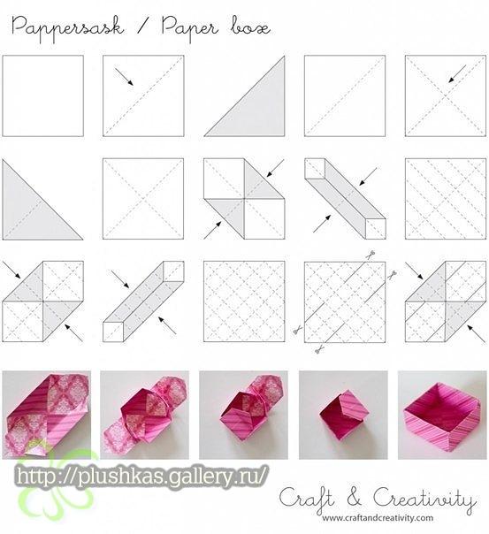 Как сделать коробку своими руками из бумаги