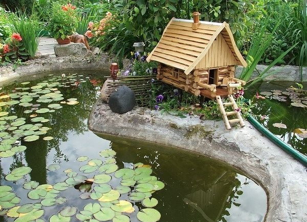 Ландшафтный дизайн дачного участка пруда