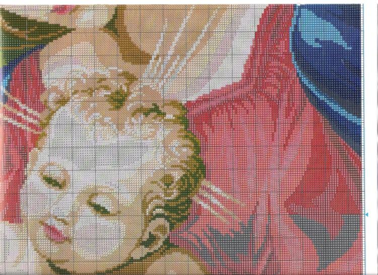 Схема вышивка мадонна с детям