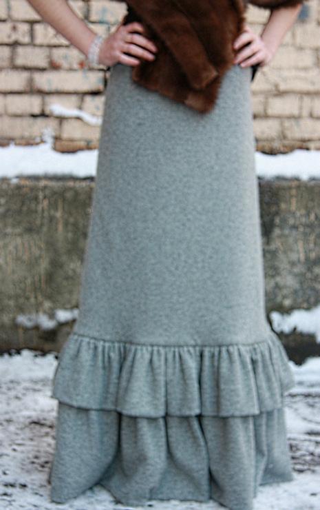 Сшить длинную юбку из шерсти 167