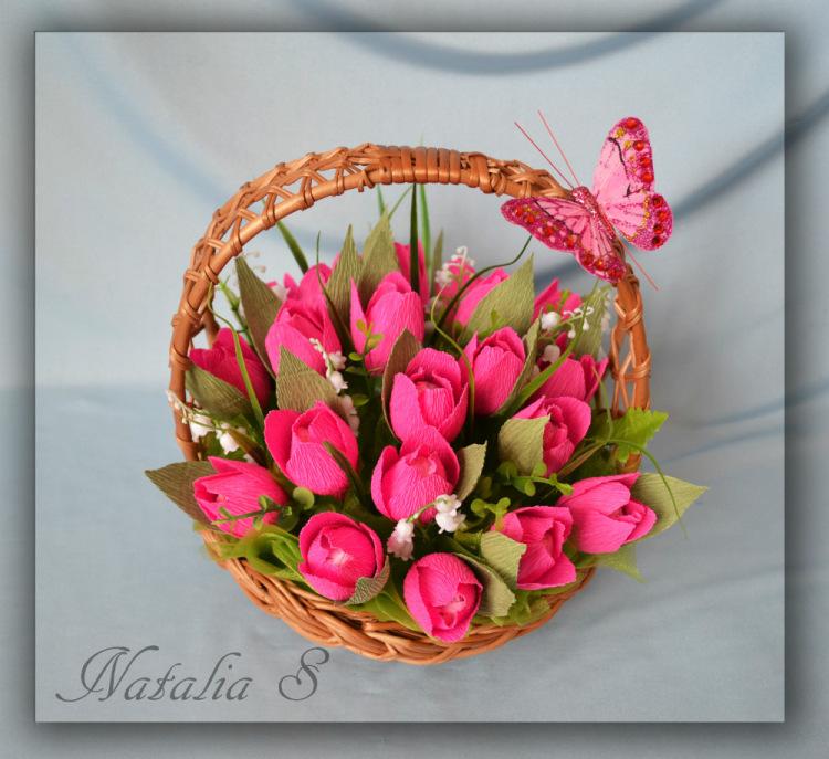 Букет из конфет своими руками пошаговое фото тюльпаны 81