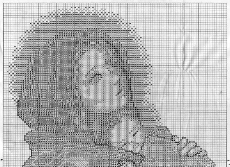 Схема Мадонна с ангелами вышивка крестиком 68