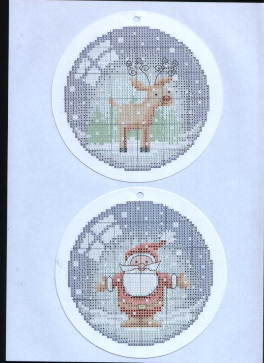 Вышивка новогодних шаров схемы 7