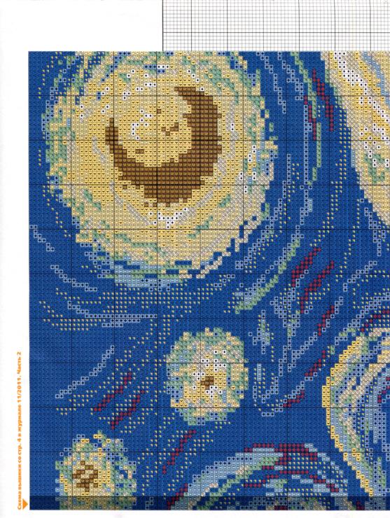 Ван гог схема вышивки ночь 74