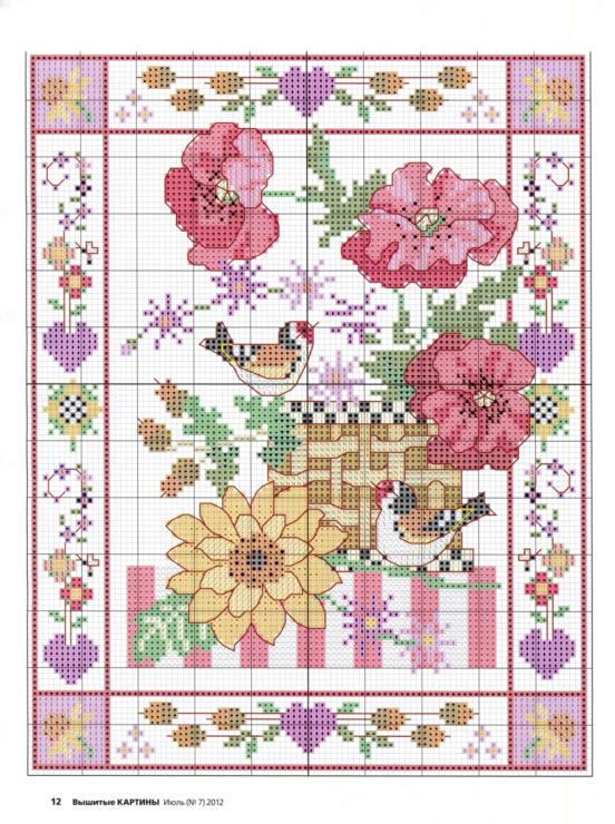Схема вышивки картин 4