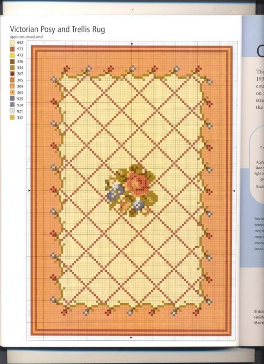 Схемы для вышивки коврика крестом 404