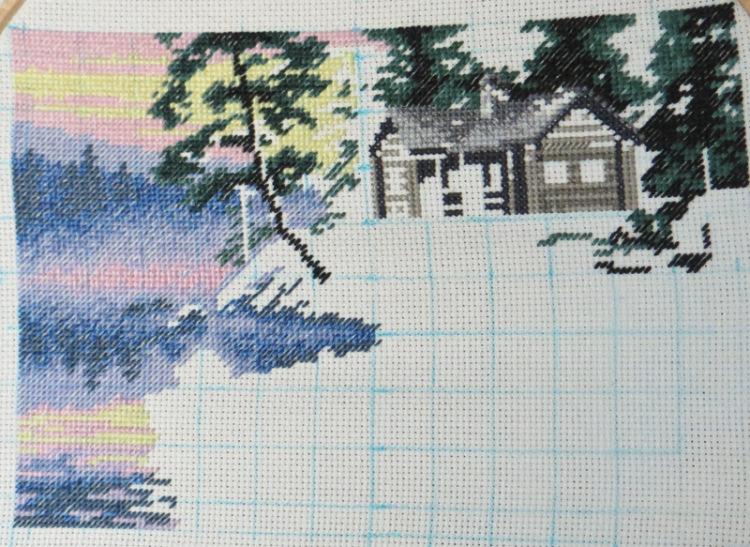 Схема вышивки утро на озере 77