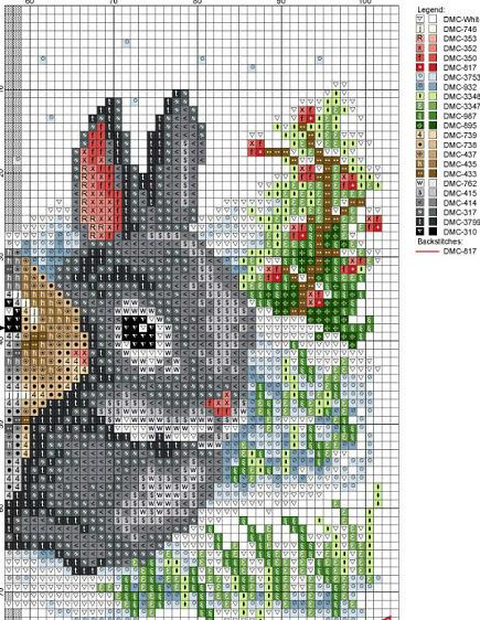 Вышивка зайцы кролики 11