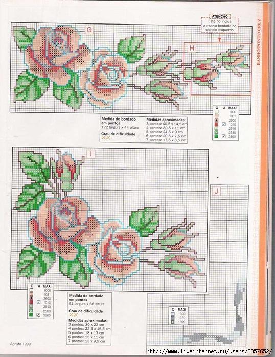 схемы вышивки пастельные тона