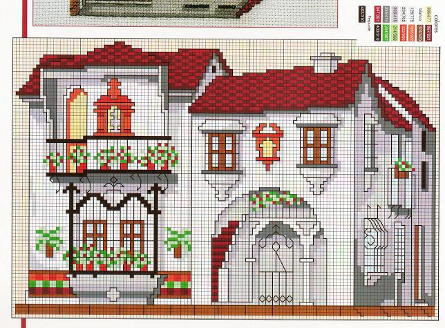 Схемы вышивок загородных домов
