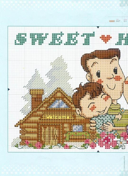 Схема вышивки для семьи