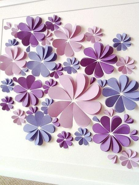 Декор стен из бумаги своими руками