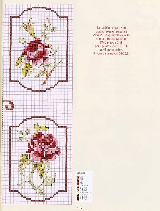 Схемы вышивок крестом для брошей