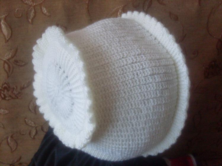 Вязание детской шапочки на машине 97