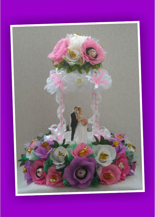 Подарок на свадьбу своими руками из цветов 75