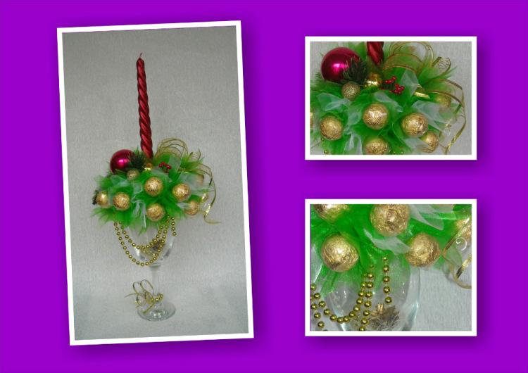 Новогодний букет из конфет как сделать