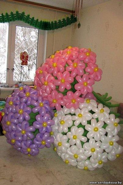 Фото букетов цветов из шариков