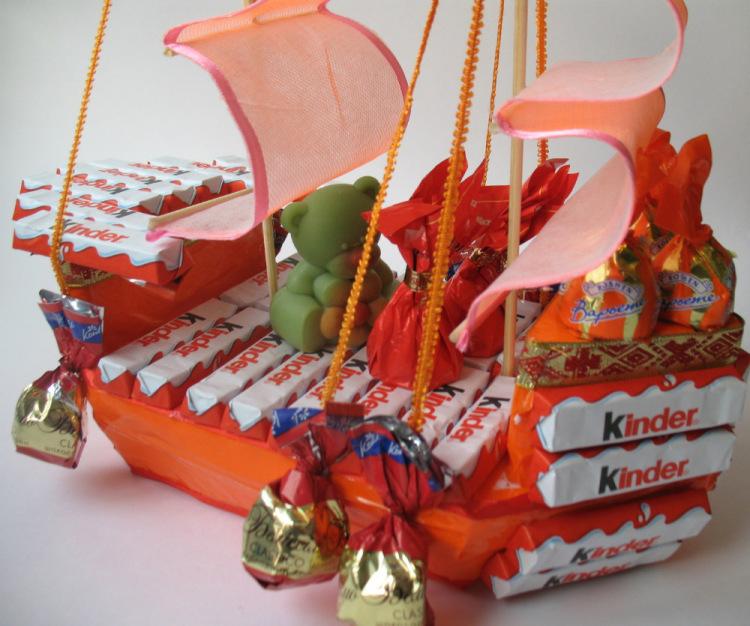 Подарок ребенку из шоколадок 207