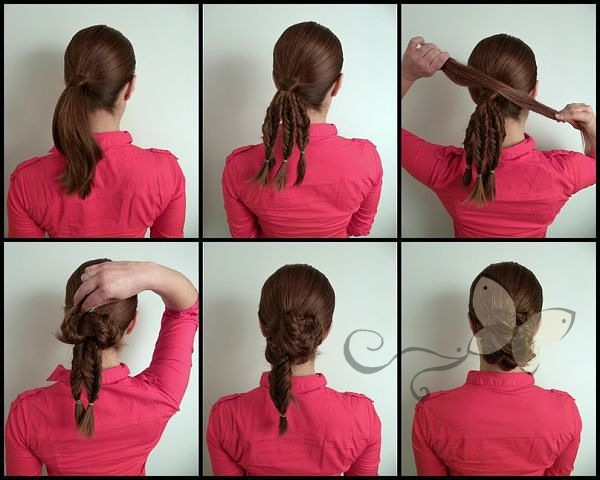 Как сделать прическу из волос средней длины самой