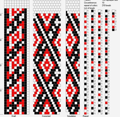 Схемы браслетов из бисера украинский орнамент 468