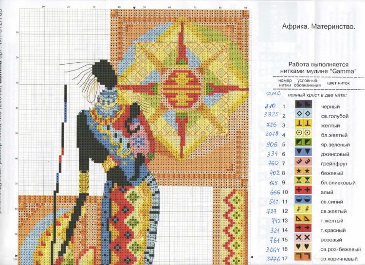Схемы вышивки «африка» - Вышивка крестом 19