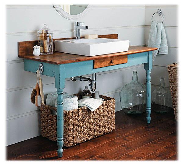 Как сделать столик в ванную комнату