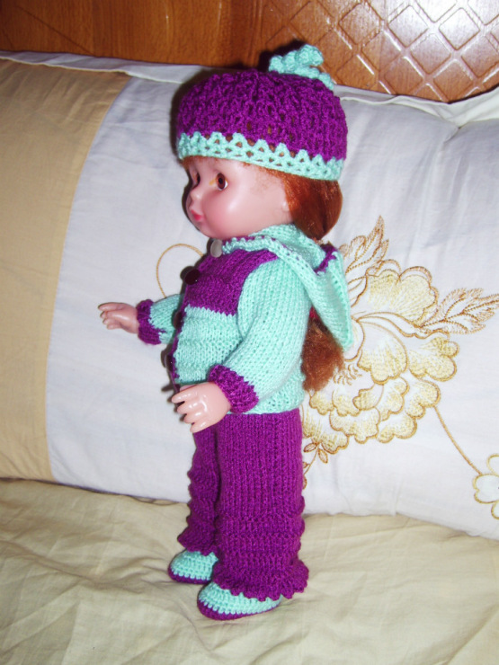 Вязание крючком штанишек для кукол 46