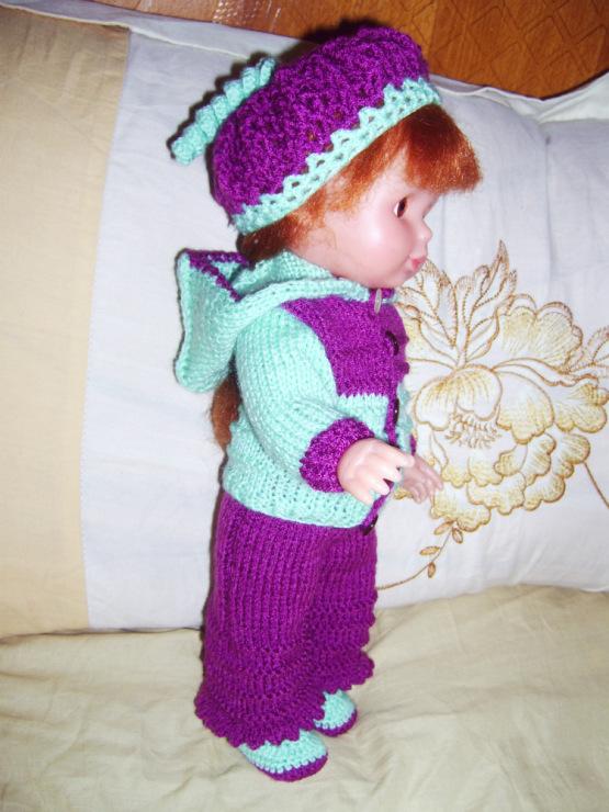 Вязание крючком штанишек для кукол 91