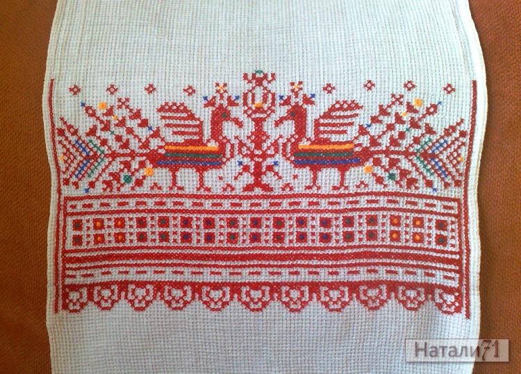 вышивка на вафельном полотенце схемы крестом